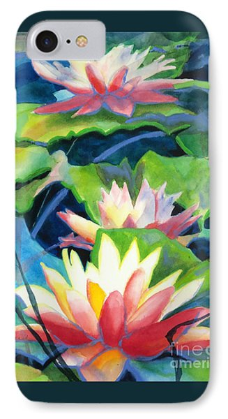 Styalized Lily Pads 3 IPhone Case by Kathy Braud