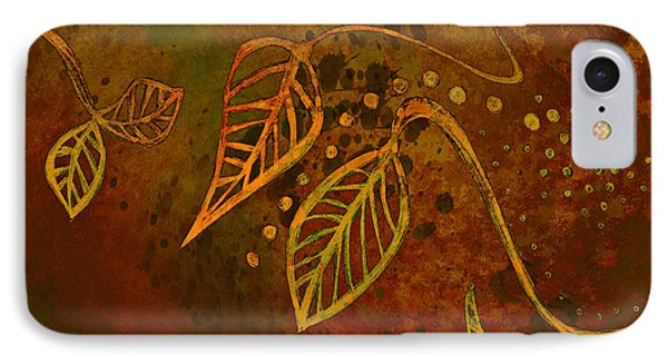 Stylized Leaves Abstract Art  Phone Case by Ann Powell