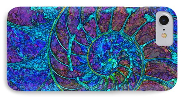 Stylized Nautilus  IPhone Case by Clare VanderVeen