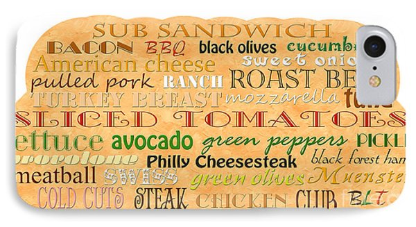 Sub Sandwich Typography Phone Case by Andee Design