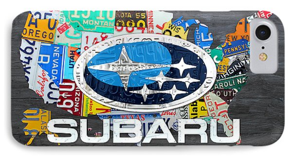 Subaru License Plate Map Sales Celebration Limited Edition 2013 Art IPhone Case by Design Turnpike