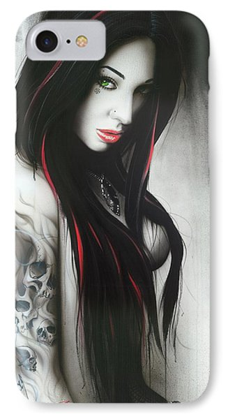 Portrait - ' Subliminal II ' IPhone Case by Christian Chapman Art