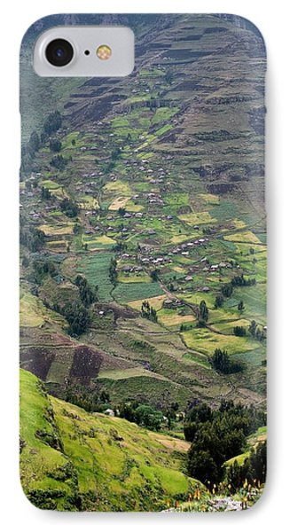 Subsistence Farming In Simien Mountains IPhone Case