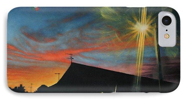 Suburban Sunset Oil On Canvas IPhone Case