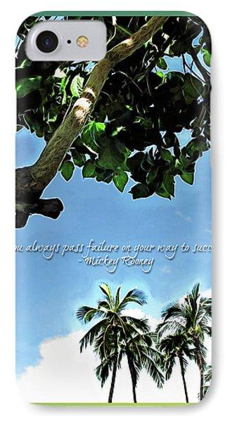 Success And Failure Botanical Inspiration IPhone Case by Joan  Minchak