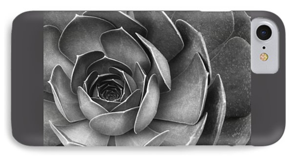 Succulent In Black And White Phone Case by Ben and Raisa Gertsberg