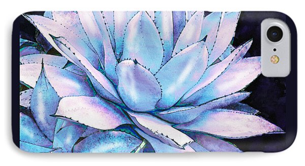 IPhone Case featuring the digital art Succulent In Blue And Purple by Jane Schnetlage