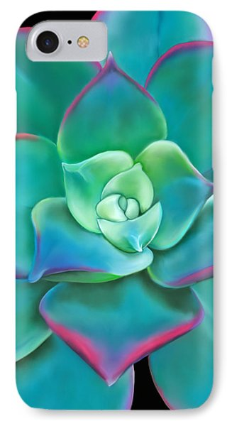 Succulent Aeonium Kiwi IPhone Case by Laura Bell