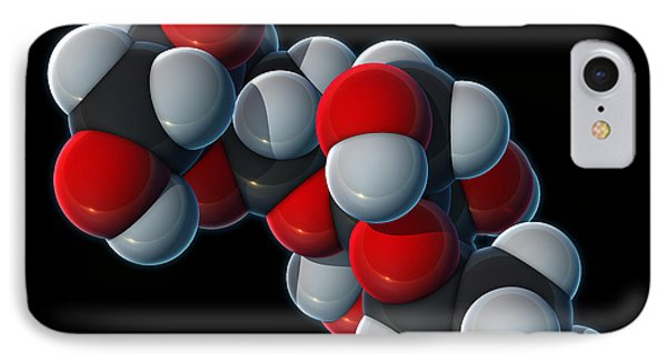 Sucrose Molecular Model Phone Case by Evan Oto