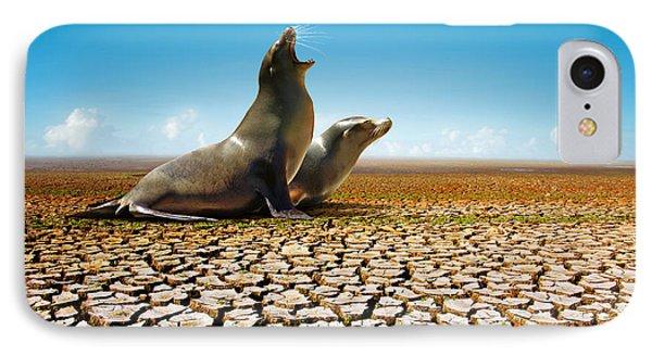 Suffering Seals Phone Case by Carlos Caetano