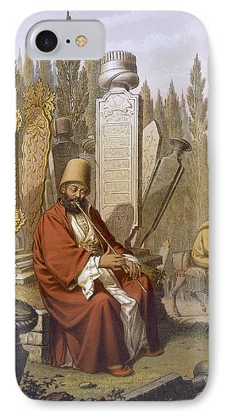 Sufi, Playing The Ney, Sits IPhone Case by Jean Brindesi