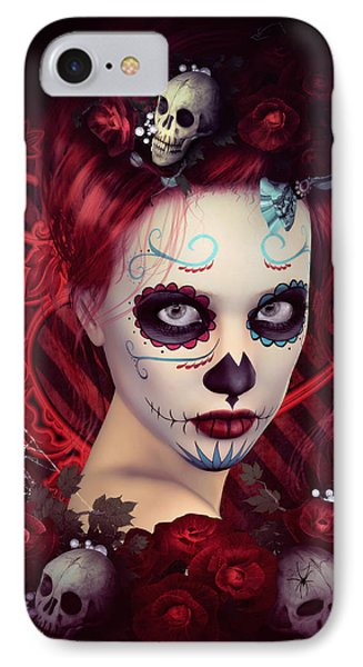 Sugar Doll Red IPhone Case by Shanina Conway