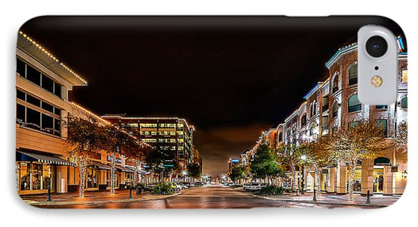 Sugar Land Town Square IPhone Case by David Morefield