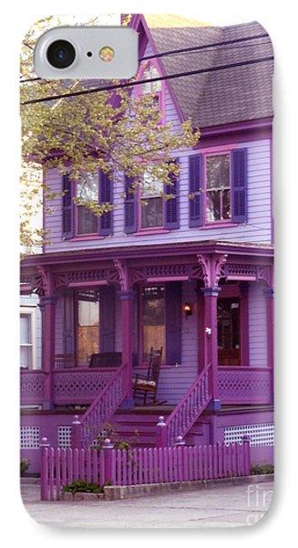 Sugar Plum Purple Victorian Home Phone Case by Kristie Hubler