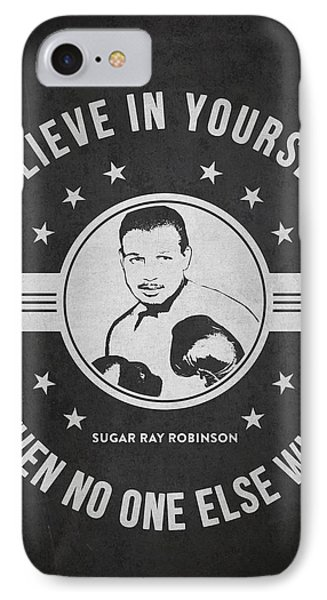 Sugar Ray Robinson - Dark IPhone Case by Aged Pixel