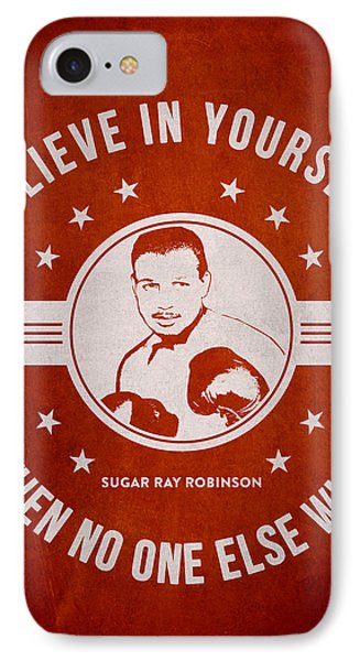 Sugar Ray Robinson - Red IPhone Case by Aged Pixel