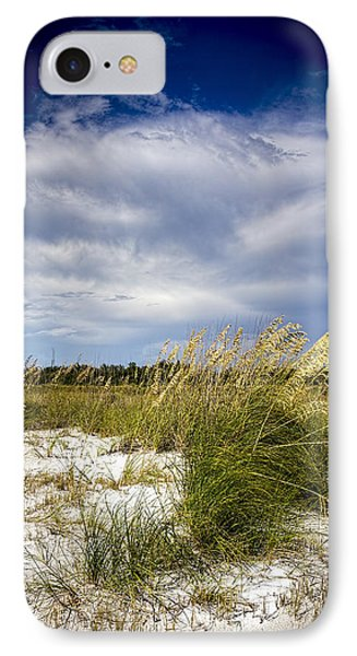 Sugar Sand And Sea Oats Bw IPhone Case by Marvin Spates