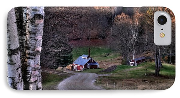 Sugar Shack - Reading Vermont Phone Case by Thomas Schoeller