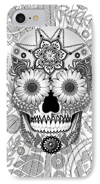 Sugar Skull Bleached Bones - Copyrighted Phone Case by Christopher Beikmann