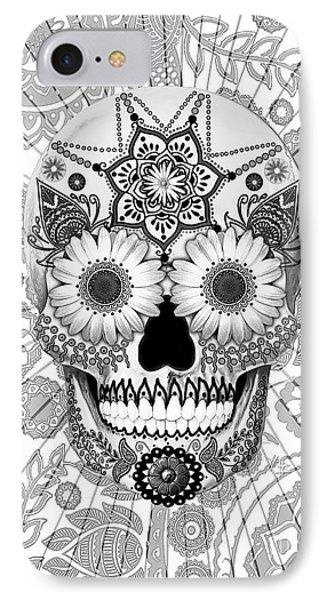 Sugar Skull Bleached Bones - Copyrighted IPhone Case
