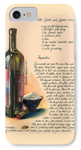 Sugared Wine Phone Case by Alessandra Andrisani