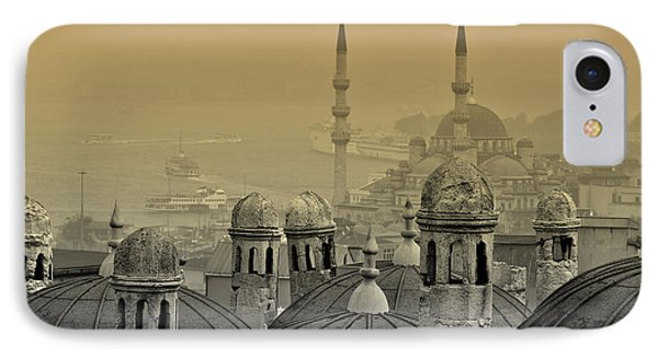Suleymaniye Mosque And New Mosque In Istanbul Phone Case by Ayhan Altun