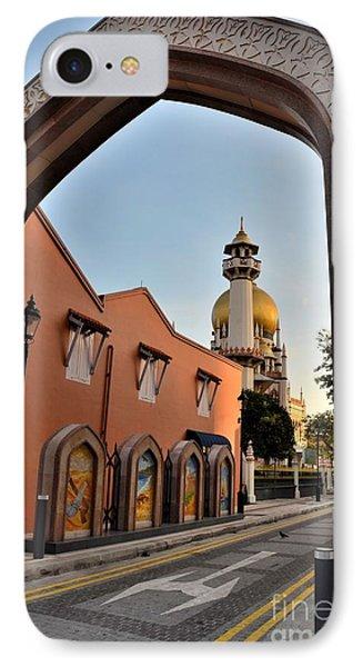 Sultan Mosque Arab Street Thru Arch Singapore Phone Case by Imran Ahmed