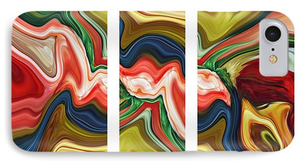 Sum Of All Suburban Daydreams Triptych Phone Case by Chad Miller