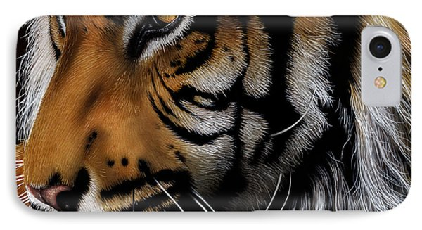 Sumatran Tiger Profile IPhone Case by Jurek Zamoyski