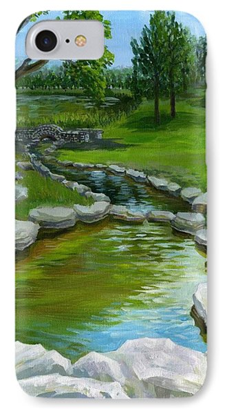 IPhone Case featuring the painting Summer At Saint Louis Forest Park  by Ping Yan