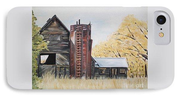 Golden Aged Barn -washington - Red Silo  IPhone Case by Jan Dappen