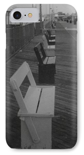 Summer Benches Seaside Heights Nj Bw Phone Case by Joann Renner