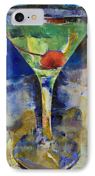 Summer Breeze Martini IPhone 7 Case by Michael Creese