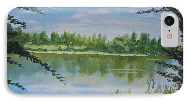 Summer By The River IPhone Case by Martin Howard