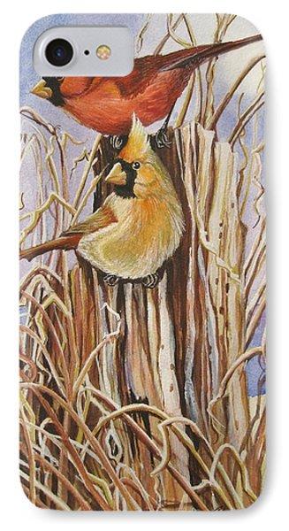 Summer Cardinals Phone Case by Cheryl Borchert