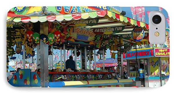 Summer Carnival Festival Fun Fair Shooting Gallery - Carnival State Fair Stands IPhone Case by Kathy Fornal