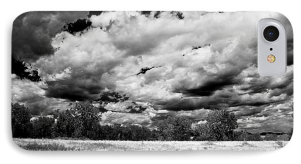 Summer Clouds In Colorado Bw IPhone Case by Angelina Vick
