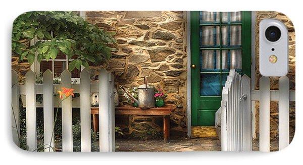Summer - Cottage - Cottage Side Door Phone Case by Mike Savad