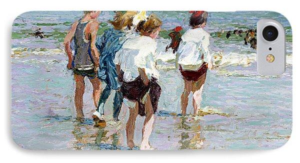 Summer Day At Brighton Beach Phone Case by Edward Potthast