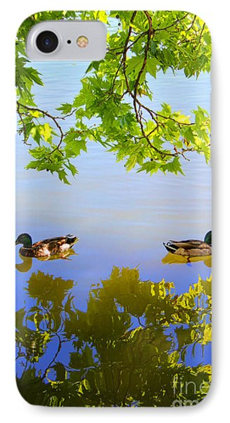 Summer Day On The Lake Phone Case by Mariola Bitner