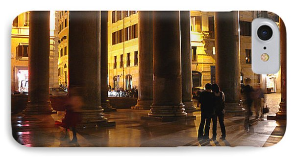 Summer Evening In Rome IPhone Case by Evelyn Tambour