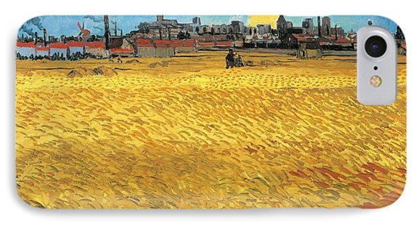 Summer Evening Wheat Field At Sunset Phone Case by Vincent van Gogh