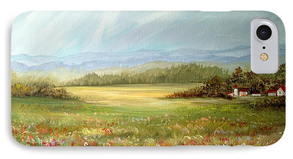 Summer Field At The Farm IPhone Case by Dorothy Maier