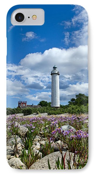 IPhone Case featuring the photograph Summer Flowers At Lighthouse by Kennerth and Birgitta Kullman