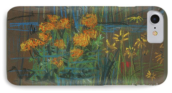 IPhone Case featuring the painting Summer Flowers by Donald Maier