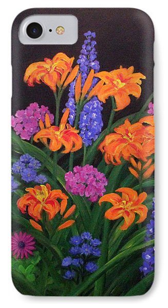 IPhone Case featuring the painting Summer Garden by Janet Greer Sammons