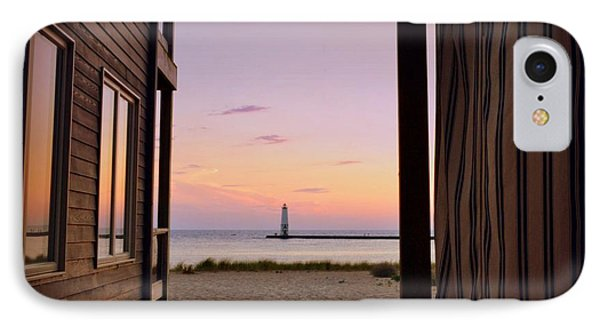 Summer In Frankfort IPhone Case by Michelle Calkins