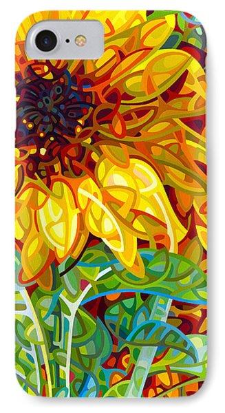 Sunflower iPhone 7 Case - Summer In The Garden by Mandy Budan