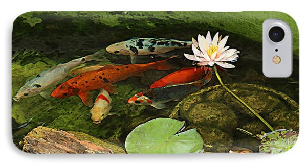 Summer Koi And Lilly IPhone Case