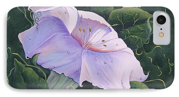 IPhone Case featuring the painting Morning Glory  by Sharon Duguay